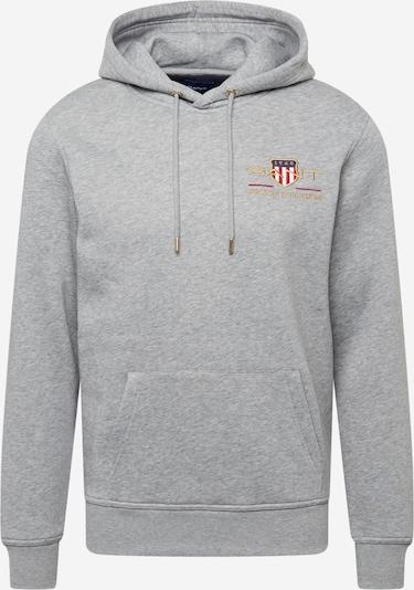 GANT Sweatshirt in Navy / yellow gold / mottled grey / Red / White, Item view