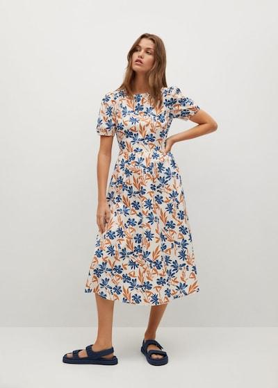 Rochie de vară MANGO pe albastru / maro / alb, Vizualizare model