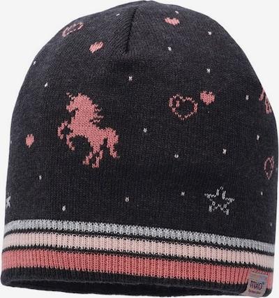 MAXIMO Cepure, krāsa - antracīta / gaiši pelēks / rožkrāsas / vecrozā, Preces skats