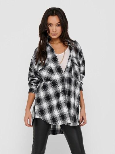 ONLY Bluse 'Ella' in schwarz / weiß, Modelansicht