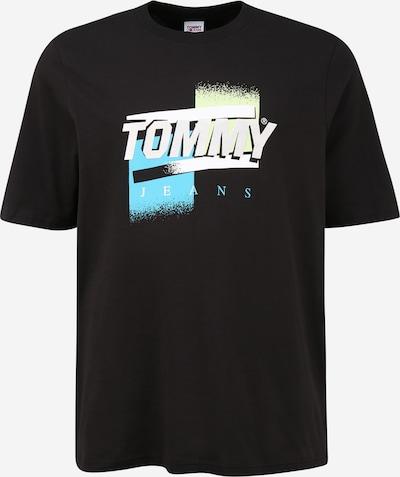 Tommy Jeans Plus Тениска в тюркоазен / светложълто / черно / бяло, Преглед на продукта