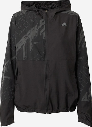 ADIDAS PERFORMANCE Veste de sport 'Own the Run' en gris / noir, Vue avec produit