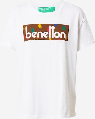 UNITED COLORS OF BENETTON T-Shirt in mischfarben / weiß, Produktansicht