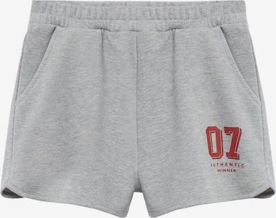 MANGO TEEN Shorts in graumeliert / rot, Produktansicht