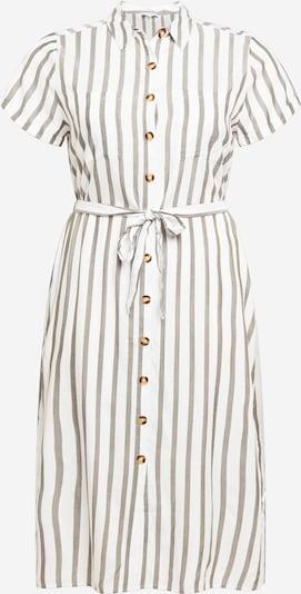 ABOUT YOU Curvy Vestido camisero 'Gesa' en caqui / blanco, Vista del producto