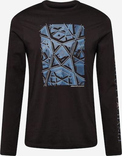 ARMANI EXCHANGE Shirt in blau / taubenblau / schwarz / weiß, Produktansicht