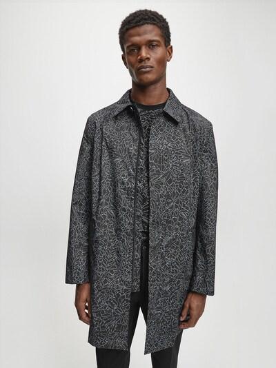 Calvin Klein Mantel in schwarz / weiß, Modelansicht
