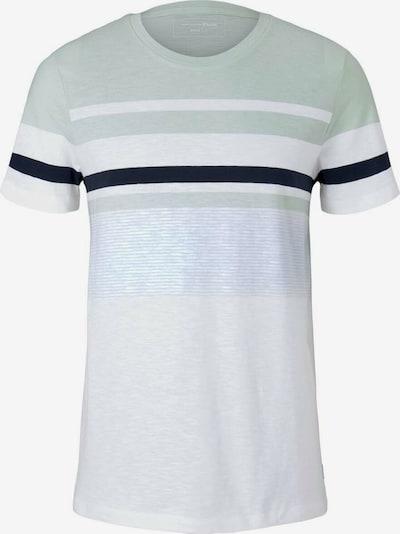 TOM TAILOR DENIM Shirt in hellgrün / schwarz / weiß, Produktansicht