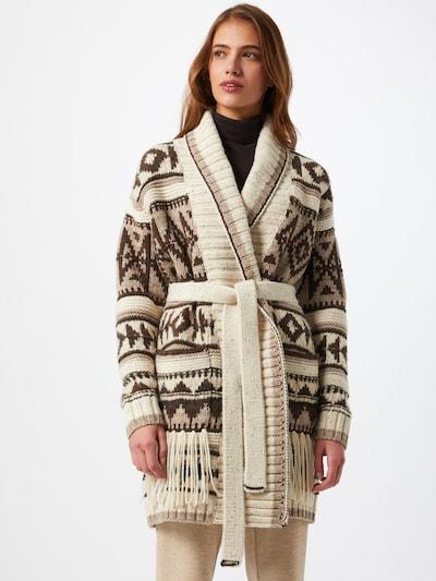 POLO RALPH LAUREN Pletený kabátek - béžová / hnědá, Model/ka