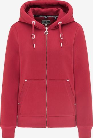 DreiMaster Maritim Zip-Up Hoodie in Red