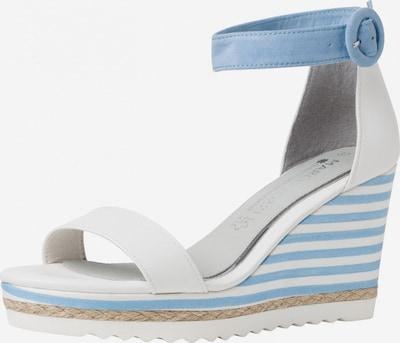Sandale cu baretă MARCO TOZZI by GUIDO MARIA KRETSCHMER pe albastru deschis / alb, Vizualizare produs