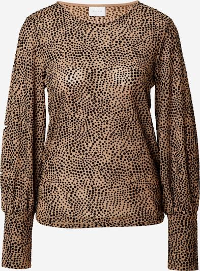 VILA Shirt 'Tifta' in hellbraun / schwarz, Produktansicht