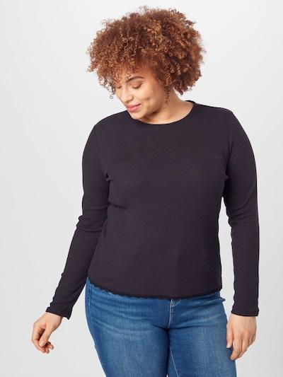 GLAMOROUS CURVE Тениска в черно: Изглед отпред