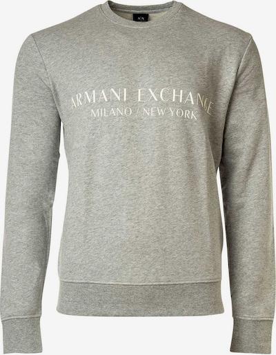 ARMANI EXCHANGE Sweatshirt in hellgrau / weiß, Produktansicht