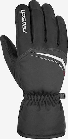 REUSCH Fingerhandschuh 'Snow King' in schwarz / weiß, Produktansicht