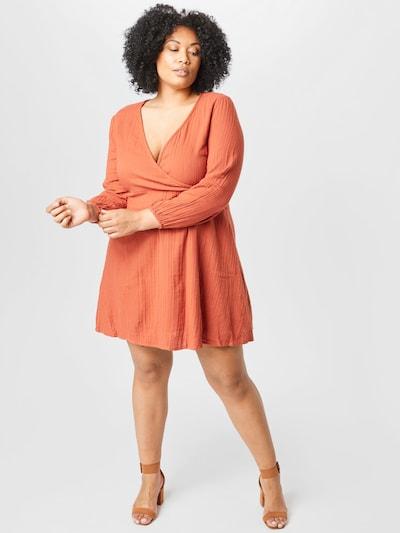 ABOUT YOU Curvy Kleid 'Sarina' in dunkelorange, Modelansicht