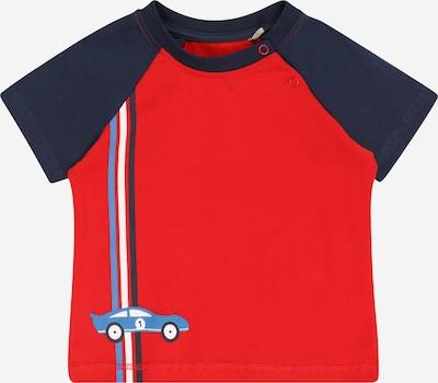 KANZ Тениска в нейви синьо / опушено синьо / червено / бяло, Преглед на продукта