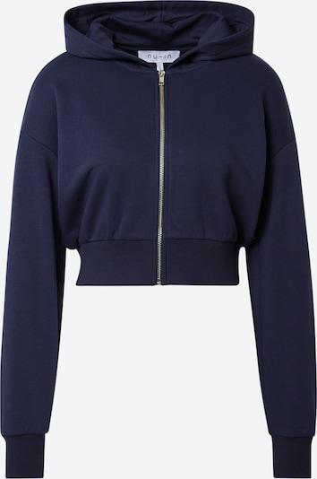 Bluză cu fermoar sport 'Zip Up Cropped Hoodie' NU-IN ACTIVE pe bleumarin, Vizualizare produs