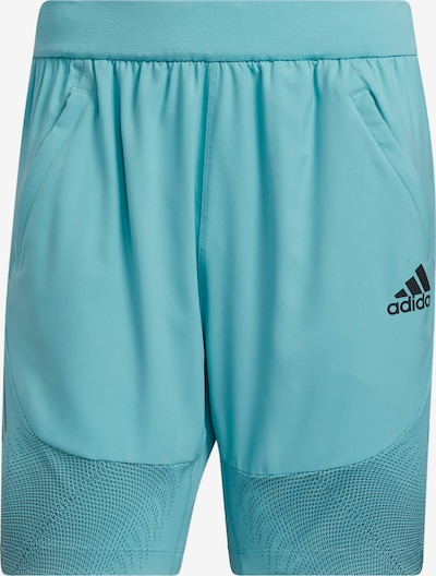 Pantaloni sport ADIDAS PERFORMANCE pe verde jad / negru, Vizualizare produs