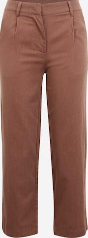 Noisy May Petite Plissert bukse i brun