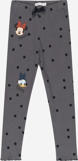 NAME IT Pantalon 'Minnie Assinaja' en citron vert / gris argenté / rouge pastel / noir / blanc, Vue avec produit