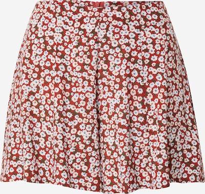 24COLOURS Pantalón en marrón rojizo / caqui / blanco, Vista del producto