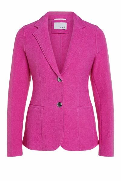 Details zu Damen Jacke Sakko Blazer Business dunkelblau Gr. 38 von OUI Wolle