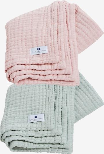 nordic coast company Musselindecke 4in1 Decke 2er Set Mint-Rosa in mischfarben, Produktansicht
