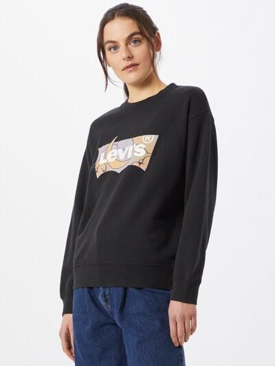 LEVI'S Sweater majica u pastelno žuta / pastelno ljubičasta / crna / bijela: Prednji pogled
