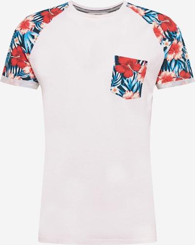 !Solid Shirt 'Ruel' in de kleur Petrol / Rood / Wit, Productweergave