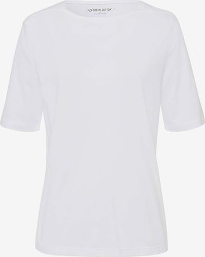 Green Cotton Shirt T-Shirt mit U-Boot-Ausschnitt in weiß, Produktansicht