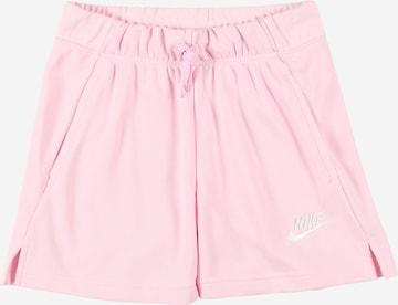 rozā Nike Sportswear Bikses