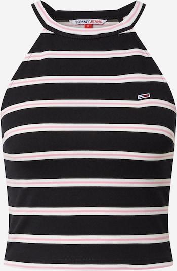 Tommy Jeans Top 'Punto' | roza / črna / bela barva, Prikaz izdelka