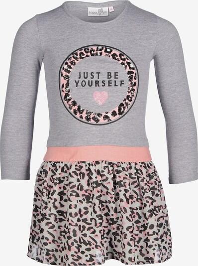 happy girls Kinder Jerseykleid in grau / rosé, Produktansicht