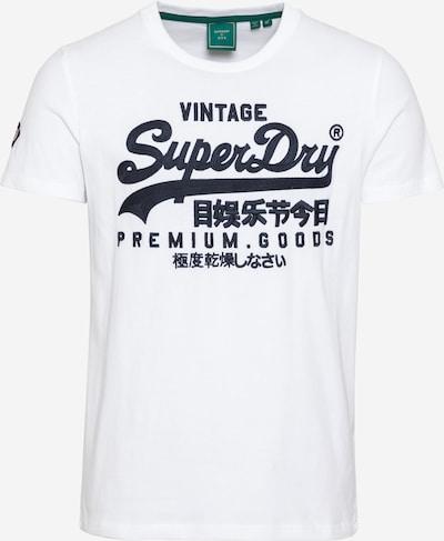 Superdry T-Shirt in dunkelblau / weiß, Produktansicht