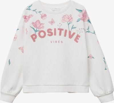 MANGO KIDS Sweatshirt in smaragd / hellpink / weißmeliert, Produktansicht