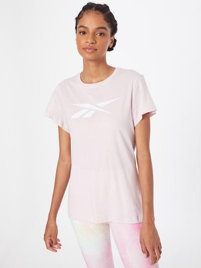 Reebok Sport Funktionsshirt in rosa / weiß: Frontalansicht