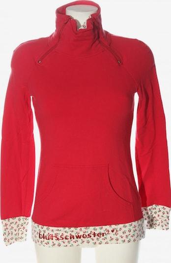 Blutsschwester Sweatshirt in S in rot / wollweiß, Produktansicht