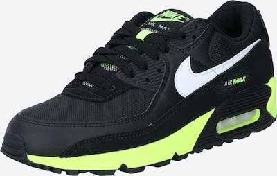 Nike Sportswear Nizke superge 'Nike Air Max 90' | limeta / črna barva: Frontalni pogled