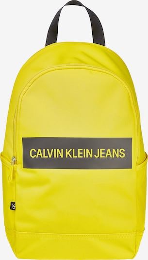 Calvin Klein Jeans Backpack in Neon yellow / Grey / Black, Item view