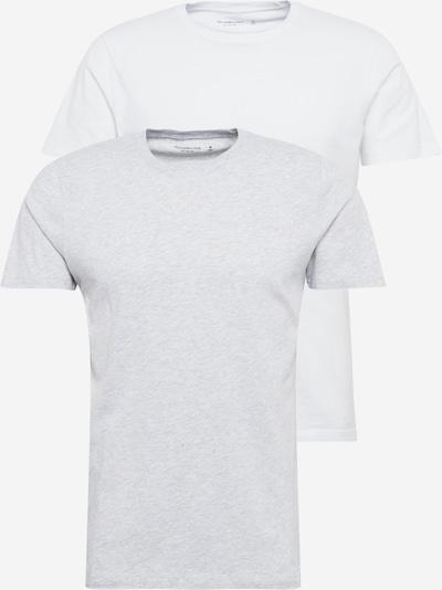 Abercrombie & Fitch Тениска в светлосиво / бяло, Преглед на продукта