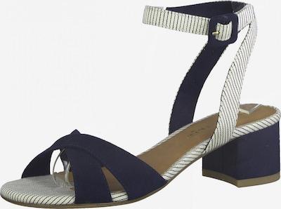 TAMARIS Remienkové sandále - námornícka modrá / biela, Produkt