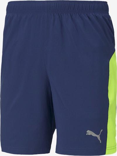 PUMA Sportbroek in de kleur Donkerblauw / Geel, Productweergave