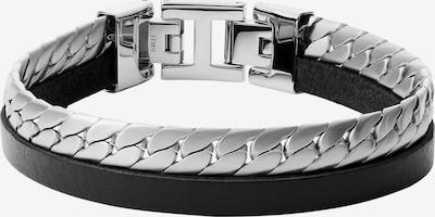 FOSSIL Armband in schwarz / silber, Produktansicht