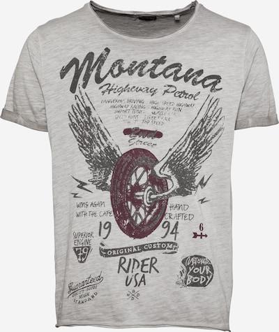 Key Largo T-Shirt 'TIRES' in hellgrau / weinrot / schwarz, Produktansicht