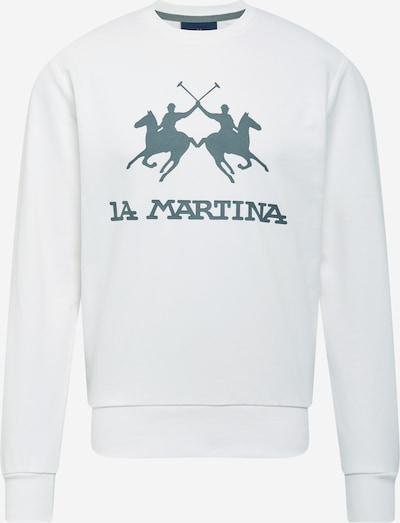 La Martina Sweater majica u bazalt siva / prljavo bijela, Pregled proizvoda