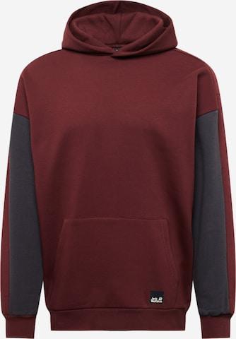 JACK WOLFSKIN Sweatshirt in Rot