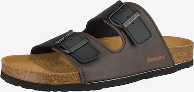 DR. BRINKMANN Pantolette in kastanienbraun / schwarz, Produktansicht