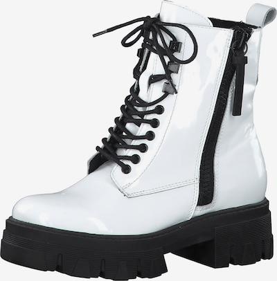 MARCO TOZZI Stiefelette in schwarz / weiß, Produktansicht