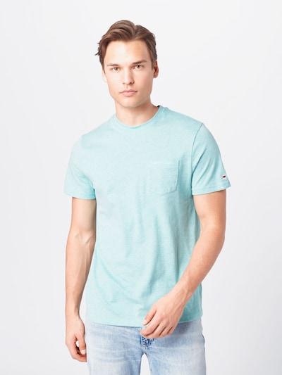 Tommy Jeans Тениска в синьо / светлосиньо: Изглед отпред